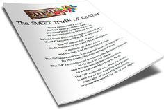 FREE Printable M&M's Easter Poem Kids is perfect to print and give to kids to teach them about Easter. Perfect for Children's Church and Sunday School. Kids Poems, Bible For Kids, Object Lessons, Bible Lessons, Childrens Ministry Deals, Ministry Ideas, Children Ministry, Youth Ministry, Easter Poems
