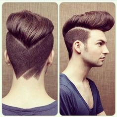 The Pompadour is the hottest new trend; From vintage classics to modern pompadour fade styles, check out this list of our 30 favorite pompadour haircuts for men Undercut Hairstyles, Funky Hairstyles, Hairstyle Men, Men Undercut, Asian Hairstyles, Hairstyles 2018, Celebrity Hairstyles, Pompadour Hairstyle For Men, Hair Trends