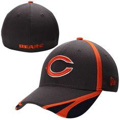 New Era Chicago Bears Graphite 14 Fan Training Flex Performance 39THIRTY Hat #bears #chicago #nfl
