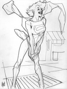 Marilyn-esque Supergirl! by Adam Hughes