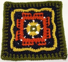 "Free #crochet pattern: Persephone's Garden 12"" Square by Oombawka Design"