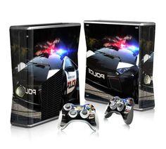 Police Car sticker skin for Xbox 360 slim - Decal Design