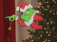Grinch en el árbol / robar los adornos / por SuspendedAnimationNY