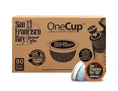 San Francisco Bay OneCup Decaf French Roast Count) Single Serve Coffee Compatible with Keurig K-cup Brewers Single Serve Coffee Pods, Compatible with Keurig, Cuisinart, Bunn Single Serve Brewers Coffee Pods, My Coffee, Coffee Cake, Coffee Beans, Coffee Shop, Kona Coffee, Starbucks Coffee, Shops, Single Serve Coffee