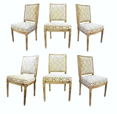 Set of Louis XVI Style Dining Chairs