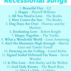 Top 20 Recessional Songs Recessional Songs Pinterest