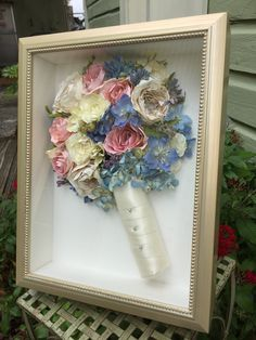 #RosesandHydrangeas #SatinandPearlHandle #Preservemybouquet #WeddingKeepsake #KeepsakeFloral