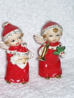 Vintage Christmas Holiday Angels
