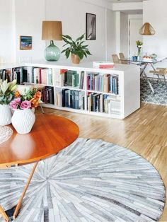 Esszimmer Vom Wohnzimmer Trennen Bucherregal Raumteiler Regale Als