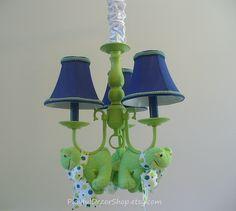 "Children's Nursery Light ""Fuzzy Frogs"". $325.00, via Etsy.  So cute!!!"