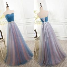 2017 Charming Elegant Tulle Long Vintage Sleeveless Evening Prom Dress, Party Dress, PD0326