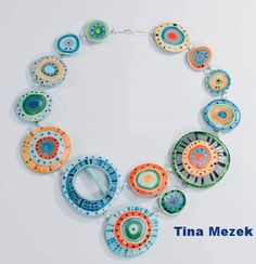 Tina Mezek necklace using Kato liqud polmer clay. I love her design. Like look thought the microscope.