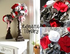 Everyday Mom Ideas: Black And White And Read All Over - Valentine Topiary Tutorial