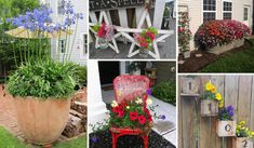 The Best 27 DIY Spring Porch Decorating Projects Amazing Tiny Furniture, Small Space Gardening, Porch Decorating, Decorating Ideas, Decor Ideas, Front Yard Landscaping, Decoration, Stepping Stones, Layering
