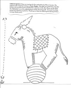 Circus Quilt: Donkey | Flickr - Photo Sharing!
