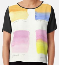 Watercolor Washes Chiffon Top