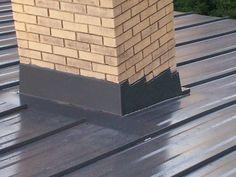 steel roof | Metal Roof Chimney Flashing | Mackey Metal Roofing