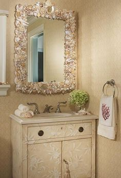 Bathroom Mirrors Coastal easy weekend projects to try this summer   shell