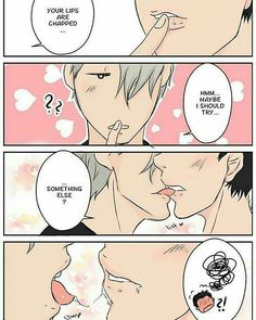 With that much saliva... *imagining Yuri swallowing Victor's saliva* Okay, hotter. . .