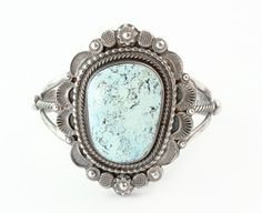 Love this old style Dry Creek Turquoise, yet totally contemporary, Navajo made bracelet!