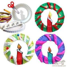 45 Excellent Paper Plate Craft Ideas All Paper Plates Crafts Christmas Arts And Crafts, Preschool Christmas, Christmas Activities, Christmas Projects, Holiday Crafts, Christmas Wreaths, Christmas Decorations, Christmas Candles, Christmas Paper