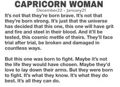 Capricorn Woman I love this. Gemini And Aquarius, Capricorn Facts, Capricorn Quotes, Zodiac Signs Capricorn, Capricorn And Aquarius, Zodiac Star Signs, My Zodiac Sign, Zodiac Facts, Pseudo Science
