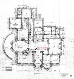 Magic Chef Mansion Architectural Plans--First Floor Plan