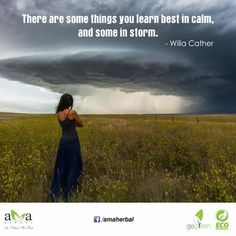"""#Quoteoftheday: """"There are some things you learn best in calm, and some in storm."""" ~ Willa Cather. Let's stay with us and protect #environment. www.amaherbal.com #EcoFriendly #InspirationalQuotes #Quotes #livegreen #GoGreen#Photooftheday #Picoftheday #naturelovers #landscape #mothernature#picture #winter #perfectday #beauty #nature #lovenature #photo #discover"""