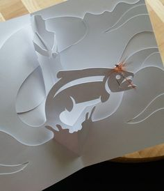 Fly Fishing Kirigami Card