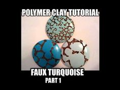 Polymer clay tutorial - faux turquoise part 1