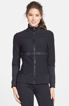 Free shipping and returns on adidas by Stella McCartney 'The Midlayer' Front Zip Jacket at Nordstrom.com. Slick, coated trim and a paneled construction elevate a versatile, sweat-wicking CLIMALITE® jacket that works seamlessly layered over lightweight tops or under jackets to keep pace with changing weather conditions. Reflective trim spanning the back from shoulder to shoulder ensures visibility in low-light conditions, so you can amp up your mileage long after sundown.