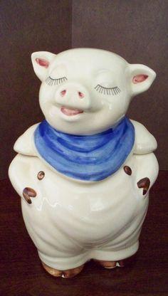 Vintage Shawnee Pottery Smiley Pig Cookie Jar by vintagesouthwest, $95.00