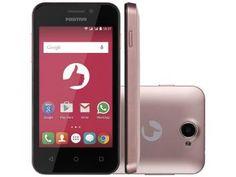 "Smartphone Positivo One S420 8GB Rosa Dual Chip - 3G Câm. 3.2MP Tela 4"" Proc. Dual Core"