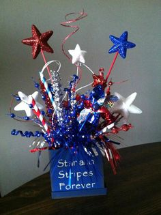 Patriotic Stars and Stripes Forever Centerpiece