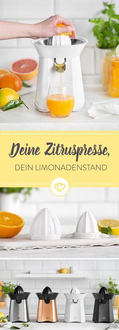 Ob pur als Frühstückssaft, frischer Spritzer in deinem Tee oder i-Tüpfelchen im Cocktail – jetzt heißt es Zitrusfrucht aufschneiden und lospressen.