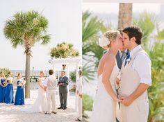 Wedding ceremony on the beach at Charleston Harbor Resort and Marina. photography by: lindseyamiller.com