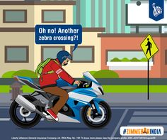 The biker slows down immediately, putting other's safety first over his love for speed. #ZimmedarIndia