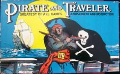 The Pirate and Traveler board game by Milton Bradley is an old and collectible game of world travel with plundering fun. Description from allaboutfunandgames.com. I searched for this on bing.com/images