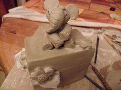 Modelage (avec tutoriel) d' une boîte avec éléphant
