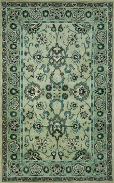 Trans Ocean Liora Manne Petra Agra Jade Traditional Rug I Have This In My House And It Is Stunning With The Pale Greens Teals Purples