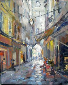 "Rick Reinert, ""Apt, Luberon,"" oil on canvas, 20"" x 16"""