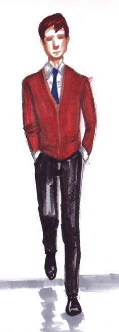 men's fashion illustration by Tentackles. #menswear #illustration #fashion #fashionillustration