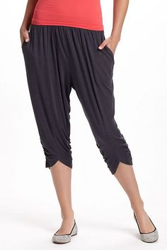 Knit Harem Pants    These look so comfortable. Give me 10 pairs plz.