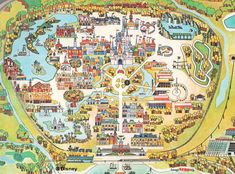Disney World maps throughout the years