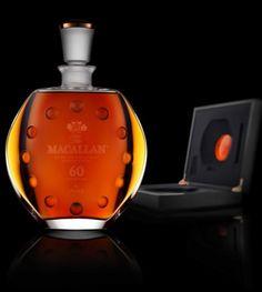 The Macallan 60 Años en Lalique.  Quinto decantador exclusivo, edición limitada de 400 unidades, numeradas individualmente, $20,000 cada una.