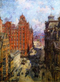 Broad Street Station Philadelphia Painting AColin Campbell Cooper Paintings Reproduction We Never Sell Poster
