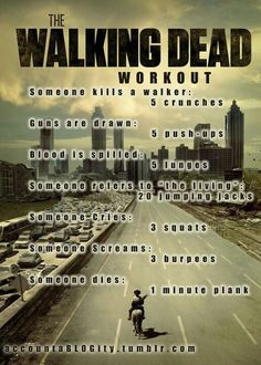 The Walking Dead workout game!   @Amanda Cheshire this might be funny!