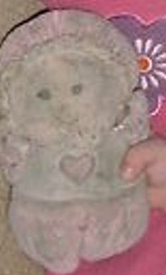 Searching – GUND? DOLL Wearing WHITE TOP with PINK HEART, PINK BONNET, ARMS & LEGS