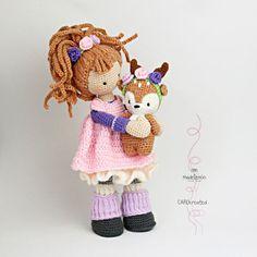 Ganchillo patrones para muñeca MIA y ciervos LAYLA Deutsch