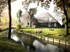 2by4-architects (2012): Living in the Countryside, renders by Isabel Rivas, via Behance